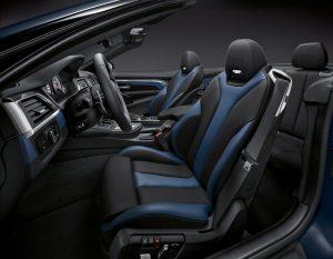 BMW M4 Cabrio 30 Jahre Edition mit der Lackierung abgestimmte VollledeInnenausstattung  Foto: © BMW AG