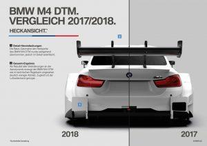 BMW M4 DTM 2018 Heck Veränderungen am Heck Foto: © BMW Motorsport
