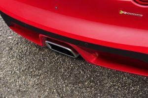 Jaguar F Type Cabrio 2018 Zentral positioniertes Auspuffendrohr  Foto: © Jaguar
