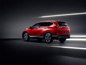 Neuer Honda CR-V 2018 Seiten-Heckansicht Foto: © Honda