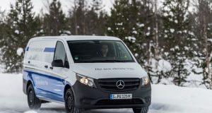 Wintererprobung Mercedes-Benz eVito in Schweden Foto: © Daimler AG