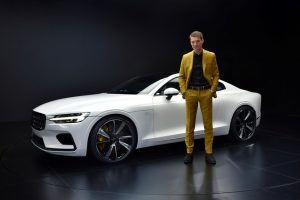 Polestar 1 mit Thomas Ingenlath, Chief Executive Officer Polestar Foto: © Volvo