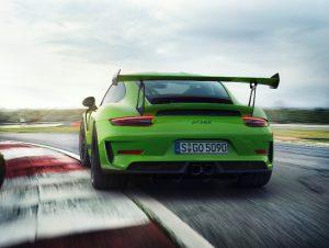Neuer Porsche 911 GT3 RS 2018 Heckansicht Foto: © Porsche