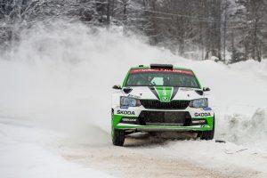 Skoda bei der Rallye Schweden 2018: Pontus Tidemand/Jonas Andersson (SWE/SWE)  Foto: © Skoda Motorsport