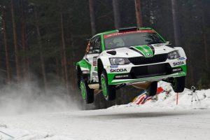 Skoda bei der Rallye Schweden Foto: © Skoda Motorsport