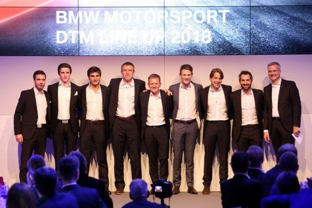 BMW Motorsport DTM Team Philipp Eng (AUT), Joel Eriksson (SWE), Bruno Spengler (CAN) Bart Mampaey (BEL), Stefan Reinhold (GER) Team Principal BMW Team RMG, Maro Wittmann (GER), Augusto Farfus (BRA), Timo Glock (GER) and Jens Marquardt (GER) BMW Motorsport Director Foto: © BMW AG