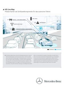 Daimler und HERE bringen HD Live Map in künftige Mercedes-Benz Modelle Foto: © Daimler AG