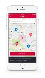 moovel on-demand Service integrated in KVV.mobil app Foto: © Daimler AG