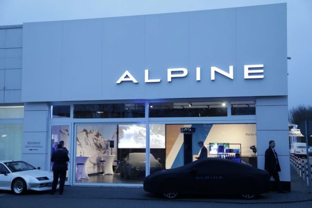 Alpine A110 Alpine Centre, Service-Stützpunkt, 2018 © Alpine