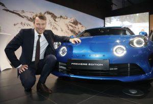 Alpine A110, Alpine Centre, Service-Stützpunkt, Händlernetz, Uwe Hochgeschurtz, Vorstandsvorsitzender, Renault Deutschland AG, 2018 © Alpine