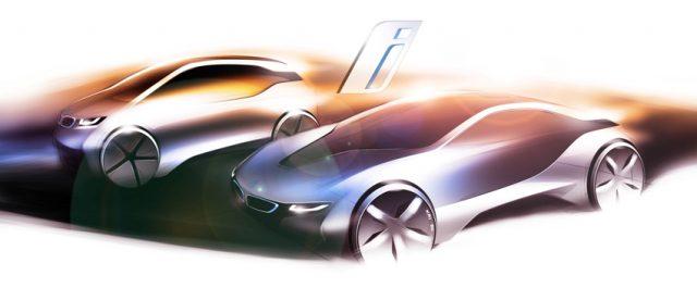 Designskizze BMW i3 und BMW i8 © BMW AG