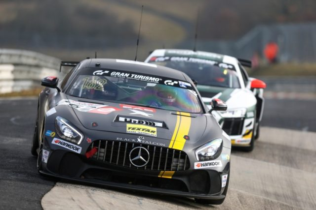 #162 BLACK FALCON Team TMD Friction Mercedes-AMG GT4 © Daimler AG