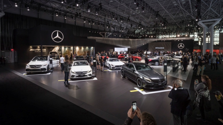 New york international auto show 2018 mercedes benz for Mercedes benz of new york