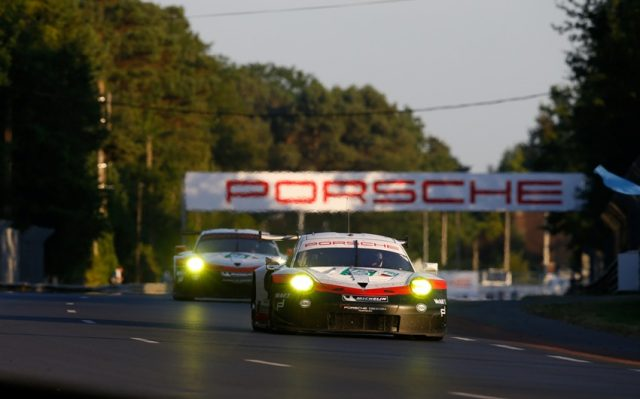 Porsche 911 RSR (92), Porsche GT Team: Michael Christensen, Kevin Estre, Dirk Werner Porsche 911 RSR (91), Porsche GT Team: Richard Lietz, Patrick Pilet, Frederic Makowiecki Motorsports: 24 H Le Mans 2017 © Porsche Motorsport