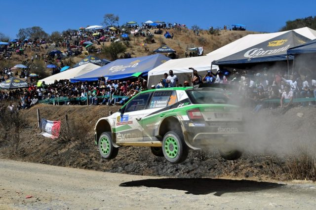 Skoda Werksfahrer Pontus Tidemand bei der Rallye Mexiko 2018 © Skoda Motorsport