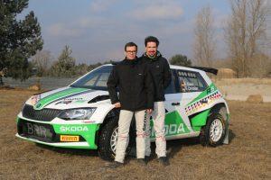 Nach zwei deutschen Meistertiteln in Serie starten die ŠKODA AUTO Deutschland Champions Fabian Kreim/Frank Christian (D/D) in diesem Jahr in der FIA Rallye-Europameisterschaft (ERC) Foto: © Skoda