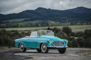 Auf der Techno Classica feiert Skoda das 60ste Jubiläum des Produktionsstarts des Skoda 450 Roadster, der 1959 mit einigen technischen Änderungen zum FELICIA CABRIOLET wurde. © Skoda