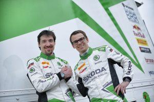 Das SKODA AUTO Deutschland Duo Kreim/Christian bestreitet nach dem Aufstieg aus der Deutschen Rallye-Meisterschaft (DRM) seine erste gemeinsame EM-Saison. © Skoda Motorsport