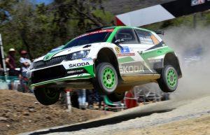 Skoda Fabia R5 Rallye Mexico 2018 Kalle Rovanperä und Beifahrer Jonne Halttunen (FIN/FIN) Foto: © Skoda Motorsport