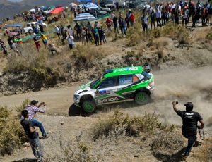 Skoda bei der Rallye Mexiko 2018: Pontus Tidemand/Jonas Andersson (SWE/SWE) © Skoda Motorsport