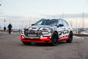 Der Audi e-tron-Prototyp in Genf Foto: © Audi AG