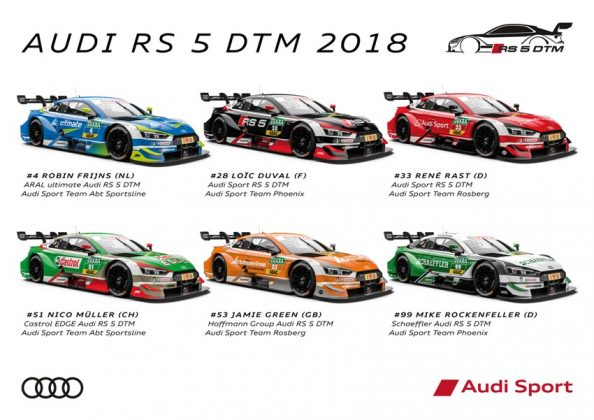 Audi RS 5 DTM 2018 Design DTM Saison 2018 © Audi Communications Motorsport