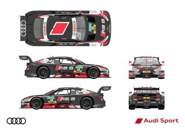 Audi RS 5 DTM 2018 Loilc Duval DTM Saison 2018 alle Ansichten © Audi Communications Motorsport