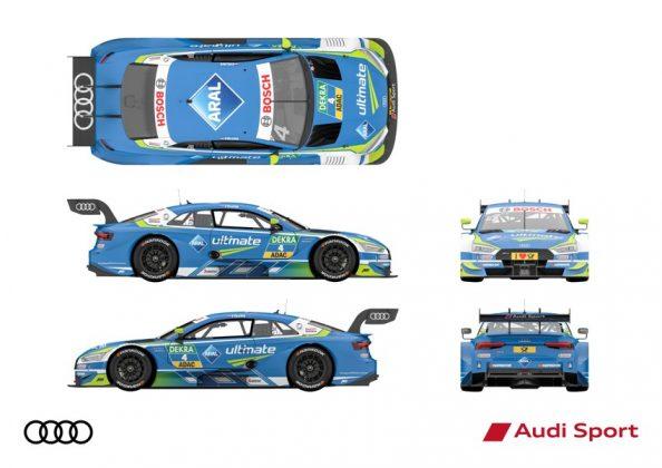 Audi RS 5 DTM 2018 Robin Frijns DTM Saison 2018 alle Ansichten © Audi Communications Motorsport
