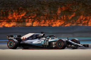Formel 1 - Mercedes-AMG Petronas Motorsport, Großer Preis von Bahrain 2018. Lewis Hamilton  © Mercedes AMG