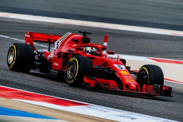 Formel 1 GP Bahrain 2018 Sebastian Vettel gewinnt den GP von Bahrain 2018 © Ferrari F1