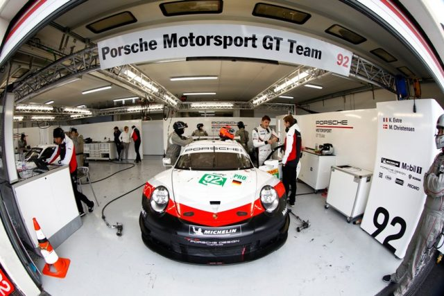 WEC FIA Prologue Porsche 911 RSR, Porsche GT Team (92), Michael Christensen, Kevin Estre © Porsche Motorsport