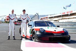 WEC FIA Prologue Porsche 911 RSR, Porsche GT Team (91), Gianmaria Bruni, Richard Lietz (l-r) © Porsche Motorsport