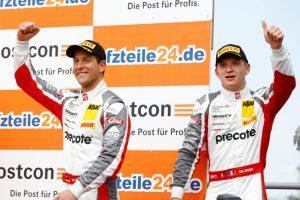 Most: ADAC GT Masters Robert Renauer (D), Mathieu Jaminet (F) (l-r), Precote Herberth Motorsport © Porsche