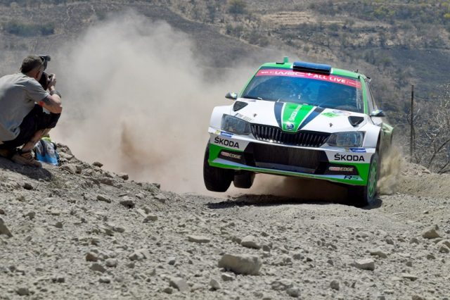 WRC Mexico 2018 Pontus Tidemand/Jonas Andersson (SWE/SWE) wollen im SKODA FABIA R5 den Vorjahressieg wiederholen © Daniel Roeseler