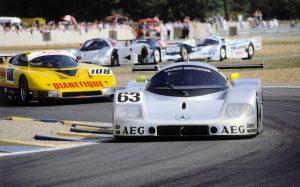 Sauber Mercedes C9 24 Stunden von Le Mans, 10./11. Juni 1989. Sauber-Mercedes Gruppe-C-Rennsportwagen C 9. Startnummer 63 - Sieger: Jochen Mass / Manuel Reuter / Stanley Dickens © Mercedes Motorsport