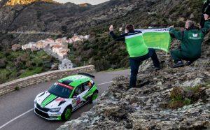 Skoda Fabia R5 bei der Rallye Frankreich/Tour de Corse 2018: Jan Kopecký/Pavel Dresler (CZE/CZE) dominieren im SKODA FABIA R5 auch nach dem zweiten Tag der Rallye Frankreich/Tour de Corse 2018 die WRC 2-Kategorie © Skoda Motorsport