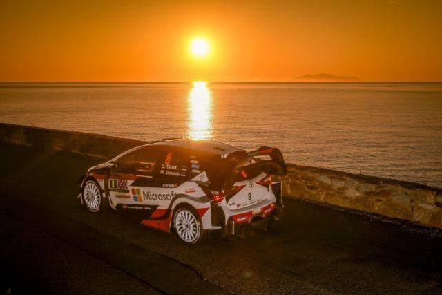 Toyota Yaris WRC Ott Tänak bei der Rally Korsika 2018 © Toyota Gazoo Racing