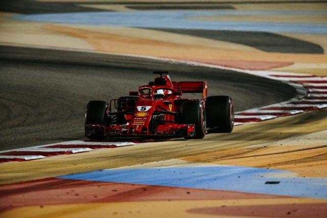 Formel 1 GP Bahrain 2018 Qualifying Pole Position für Sebastian Vettel © Ferrari F1