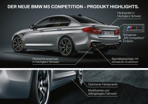BMW M5 Competition 2018 Highlights Heckbereich © BMW AG