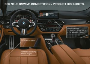 BMW M5 Competition 2018 Highlights Innenraum © BMW AG