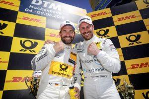 DTM 2018 Hockeheim 2.Lauf Podium Timo Glock (BMW), Gary Paffett (Mercedes-AMG) © DTM