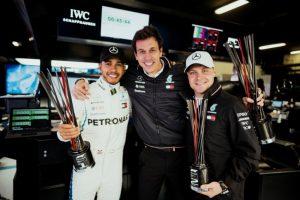 Formel 1 - Mercedes-AMG Petronas Motorsport, Großer Preis von Spanien 2018. Lewis Hamilton, Valtteri Bottas © Mercedes-AMG Petronas Motorsport