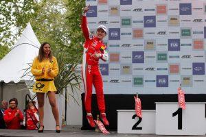 Formel 3 EM Podium Pau Chinese Guanyu Zhou (PREMA Theodore Racing) gewinnt den ersten Lauf © F3 EM
