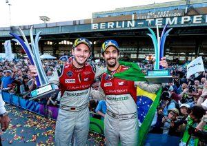 Formel E, Berlin E-Prix 2018 Daniel Abt, Lucas di Grassi ©  Audi Communications Motorsport / Michael Kunkel