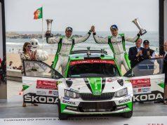 Skoda bei der Rallye Portugal 2018: Die WRC 2-Champions Pontus Tidemand/Jonas Andersson (SWE/SWE) gewannen im Skoda FABIA R5 zum dritten Mal in Folge die WRC 2-Kategorie bei der Rallye Portugal. © Skoda Motorsport
