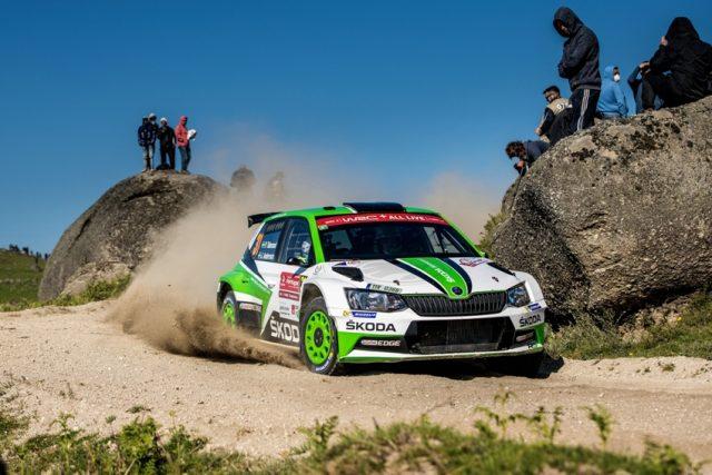 Skoda bei der Rallye Portugal Die amtierenden WRC 2-Champions Pontus Tidemand/Jonas Andersson aus Schweden kämpften sich im SKODA FABIA R5 an die Spitze der WRC 2-Kategorie zurück. © Skoda Motorsport