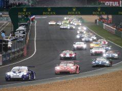 24 Stunden Le Mans Porsche 911 RSR, Porsche GT Team (91), Gianmaria Bruni (I), Richard Lietz (A), Frederic Makowiecki (F), Porsche GT Team (92), Michael Christensen (DK), Kevin Estre (F) Laurens Vanthoor (B), Le Mans 2018 © Porsche Motorsport