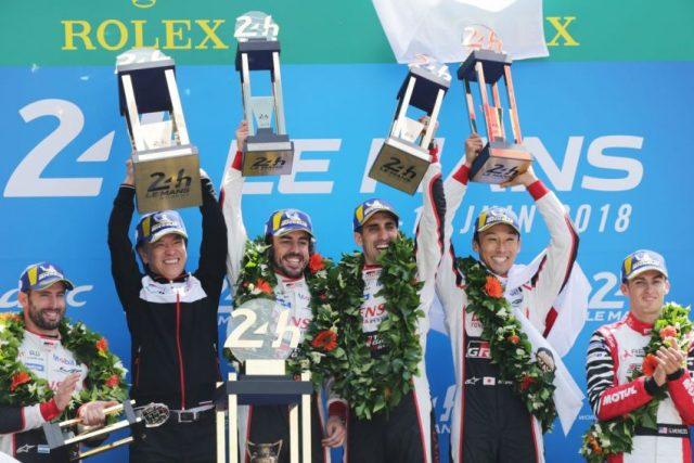 24 Stunden Le Mans GAZOO Racing Sébastien Buemi, Kazuki Nakajima und Fernando Alonso triumphieren © Toyota Gazoo Racing
