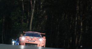 24 Stunden von Le Mans Porsche 911 RSR, Porsche GT Team (92), Michael Christensen (DK), Kevin Estre (F) Laurens Vanthoor (B), Le Mans 2018 © Porsche Motorsport