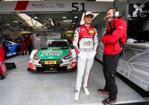 DTM Norisring 2018 Nico Müller, Felix Fechner © Audi Communications Motorsport / Michael Kunkel